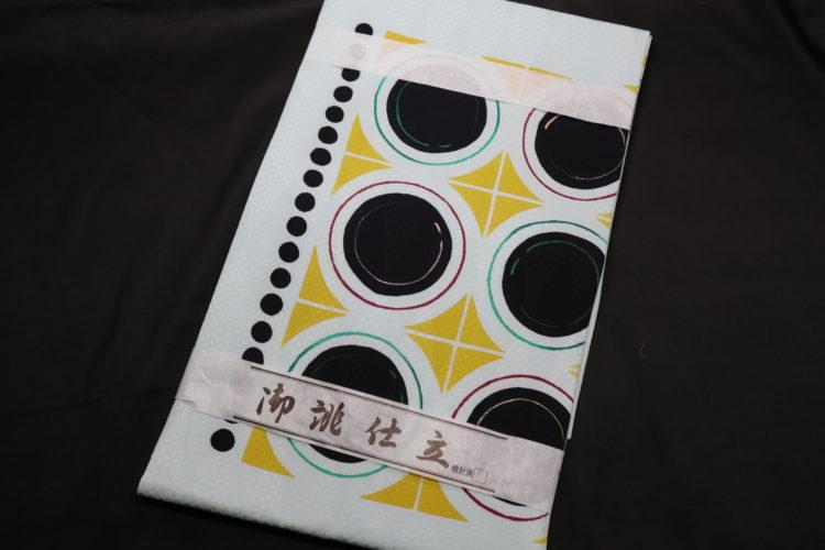 幾何学文様 窓絵 名古屋帯(仕立て上がり) 商品画像