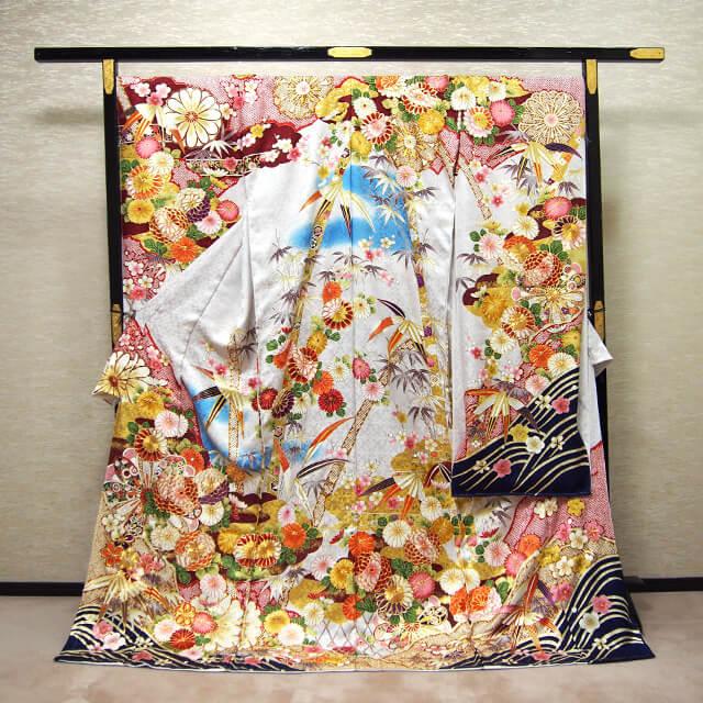 正絹 総刺繍